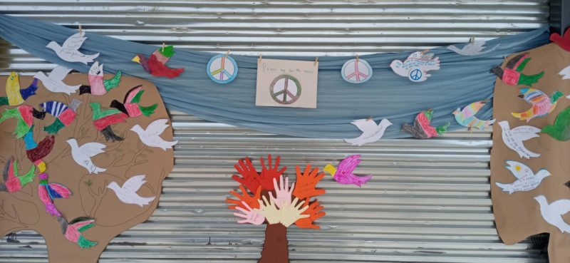 The peace corner, a collective initiative